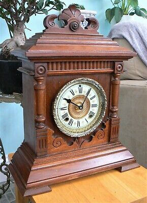 Large Ansonia Sharon Mantle Clock  C. 1895 - Converted To Battery Movement • 65£