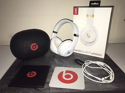 Beats By Dr. Dre Studio3 Wireless White And Gold Headphones • 70£