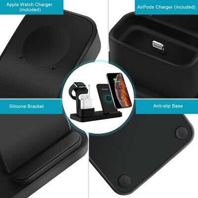 AU32.88 • Buy 3 In 1 Wireless Charger Dock Pad Stand Station For IPhone Airpod Watch Charger