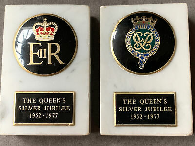 Silver Jubilee EIIR And Prince Philip Paperweights  • 6£