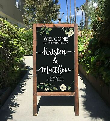 Large Standing Chalkboard Double Sided Board Cafe Menu Wedding Reception Sign    • 30.99£
