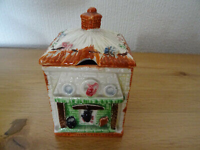 Honey/preserve Pot,modeled As Cottage Interior.Price Bros Made In England • 11.90£