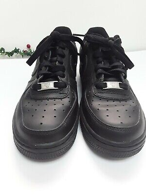 Boys Jnr Black Nike Court Trainers Air Force Lace Ups  Size 5  • 22.99£