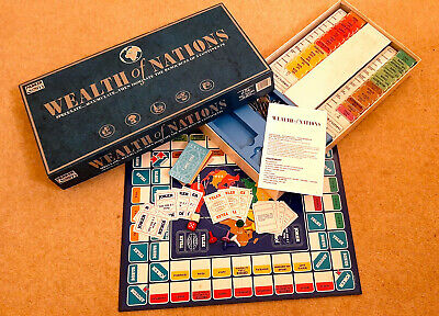 Wealth Of Nations Board Game, Parker, 1987, Complete & In Very Nice Condition • 21.99£