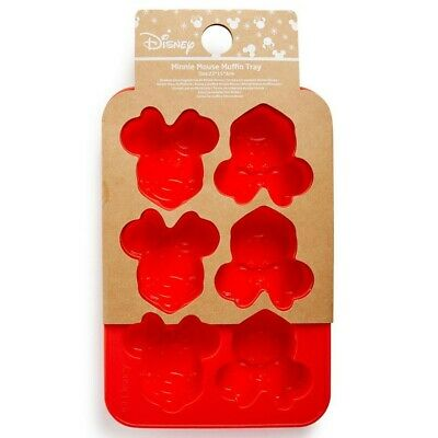 New Disney Minnie Mouse Silicone Jelly Cake Chocolate Muffin 6 Mould Tray • 6.99£