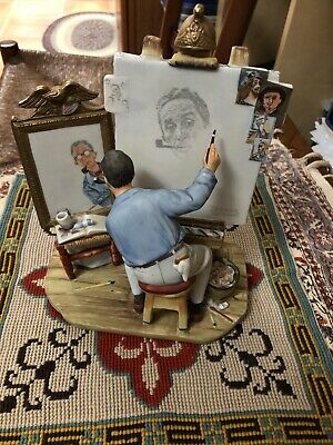 $ CDN42.82 • Buy Norman Rockwell Self Portrait 1978 Gorham Figurine Saturday Evening Post 1960