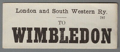 LONDON & SOUTH WESTERN RAILWAY LUGGAGE LABEL - WIMBLEDON (Caps)  • 1.10£