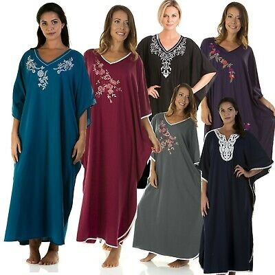 Ladies Full Length Nightie Ladies Full Length Kaftan Ladies Nightwear Loungewear • 19.97£