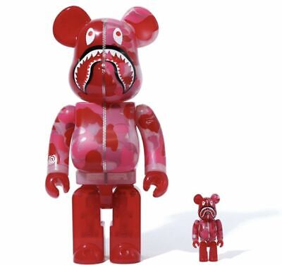 $528.97 • Buy Mint Be Rbrick Bape Clear Abc Camo Shark 100 400 Pink / Duck Bearbrick