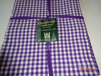 £14.99 • Buy 100% Cotton Tablecloth  Great Modern Colour. Gingham Check.  2 X Sizes Available