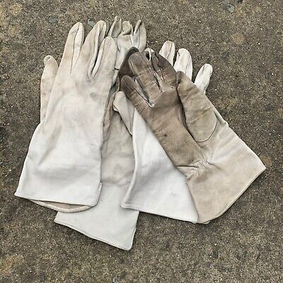 $12.49 • Buy UK British Army Surplus Odd's Aircrew Leather Off White Lightweight Gloves, RAF