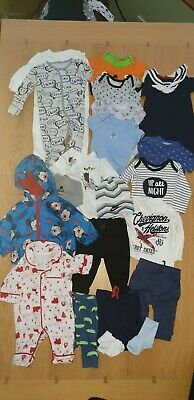 Baby Boys Clothes Bundle 0  To 3 Months Including Baby Christmas Outfit • 4.50£
