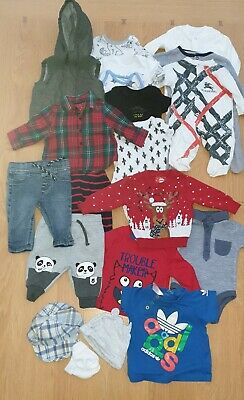 Baby Boys Clothes Bundle 0  To 3 Months Including Baby Christmas Outfit • 5.50£