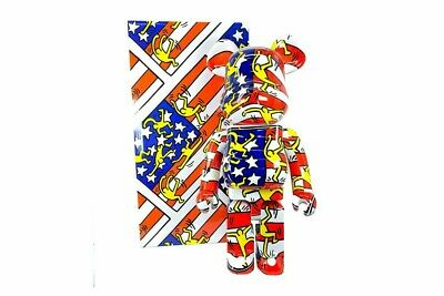 $1150 • Buy Bearbrick Keith Haring 1000% American Flag Designercon 2020 *Ready To Ship