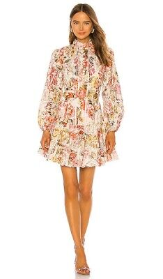 AU390 • Buy Zimmermann Bonita Embroidered Midi Dress Sample *NEW WITH TAGS* SIZE 0