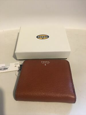 Fossil Ladies Brown Leather Sydney Bifold Wallet/purse BNWT • 10£