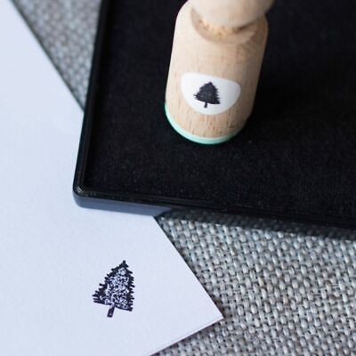£4.25 • Buy Mini Rubber Craft Stamp - Christmas Tree Illustrated Hand Drawn