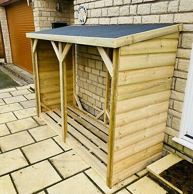 Premium Log Store Shed Pressure Treated - *fully Assembled* Wood Store • 139£