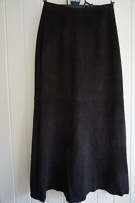 Caroline Charles Brown Suede Long Midi Skirt, Fully Lined, UK 10 • 25£