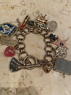 100 % Authentic Juicy Couture Gold Charm Bracelet With Original Box • 99£