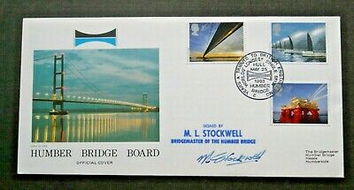 1983 Engineering Official Humber Bridge Fdc Signed • 5.09£