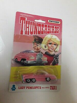 Matchbox Thunderbirds Lady Penelope's Rolls Royce On Sealed Card • 5.99£