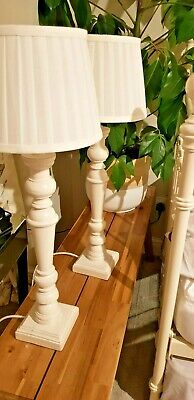 Laura Ashley Tate Lamps In Off White With Shades • 0.99£