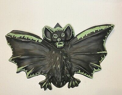 $ CDN50.60 • Buy Vintage Halloween 15 1/2  Black Vampire Bat  Green Plastic Rare Fangs Dracula