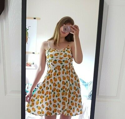 Pineapple Summer Dress, Size 10, Good Condition • 12£