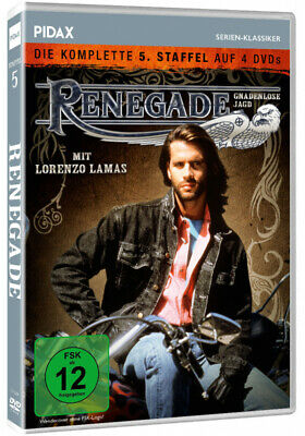 Renegade -TV Series Season 5 Fifth DVD Box Lorenzo Lamas PAL Region 2 • 39.99£