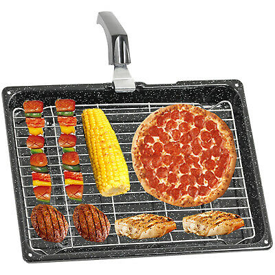 £17.15 • Buy Large Grill Pan For BOSCH NEFF SIEMENS Oven Tray Rack + Handle Set 380 X 280 Mm