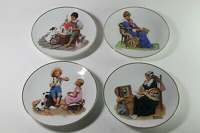 $ CDN18.66 • Buy Lot Of 4 Norman Rockwell Museum Plates + 1 Sat. Eve. Post 3.5  CPC