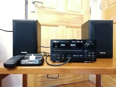 TEAC CR-H257i HiFi CD-MP3-DAB Receiver With IPood Dock And Speakers • 80£