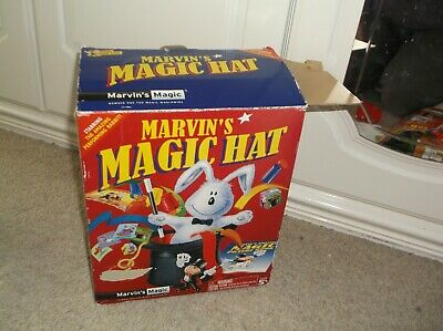 TOP HAT CLOAK WAND! ! Boxed & Hardly Used! MARVIN'S MAGIC HAT BOX OF TRICKS • 4.79£