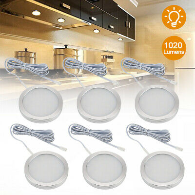 Under Cabinet Lights Kit LED Kitchen Counter Closet Furniture Puck Display Lamp • 9.99£