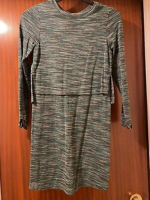 Topshop Green Jersey Tiered Dress Size 6 Brand New Without Tags Speckled Bodycon • 2£