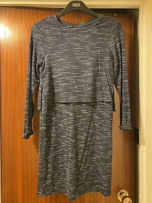 Topshop Navy Jersey Tiered Dress Size 6 Brand New With Tags Speckled Bodycon • 3.50£