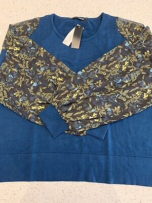 BNWT Captain Tortue Trend Jumper Blue And Green • 7£