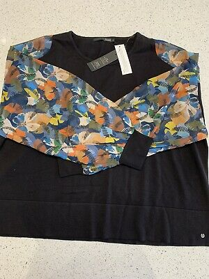 BNWT Captain Tortue Trend Jumper With Floral Sleeves • 10£