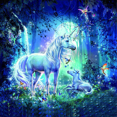 AU16.49 • Buy 5D Diamond Painting White Unicorn Adults Art Picture For Home Wall Decor Gift