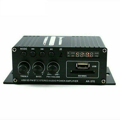 12 V 400W Bluetooth HiFi Power Amplifier Mini Audio Digital Stereo FM AMP Remote • 19.15£