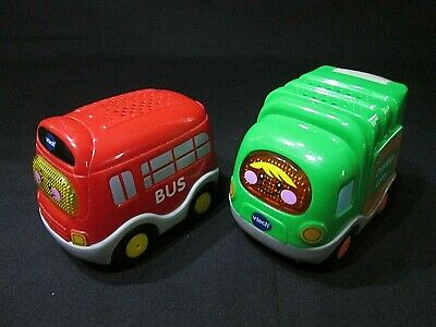 Vtech  Toot Toot Drivers Bus & Dustbin Lorry, Sounds, Lights, Very Good Cond. • 6.99£