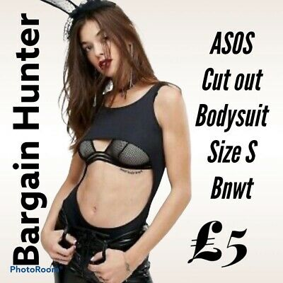 £5 • Buy Asos Black Body With Under Boob Cut Out Size S Bnwt