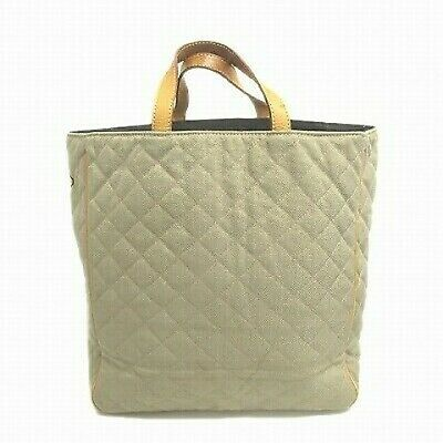 AU59.51 • Buy MZ WALLACE Quilting Tote Handbag Canvas Leather Gureju System Ladies 16 Complete