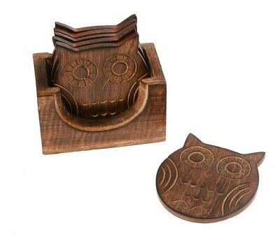 £16.99 • Buy Sass & Belle Wooden Owl Coasters – Set Of 6