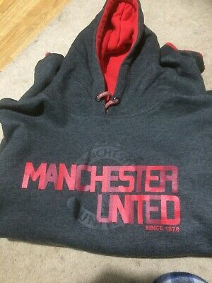 Manchester United Hoodie Large Mens • 9£
