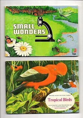 3 Brooke Bond Tea Card Albums,tropical Birds And Small Wonders Both Complete+1 • 0.99£