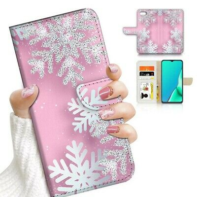 AU12.99 • Buy ( For Oppo A57 ) Wallet Flip Case Cover PB24183 Pink Snow Flower