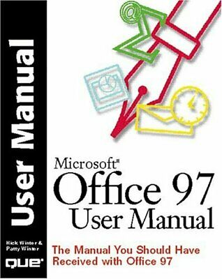 Office 97 User Manual: The Manual You Should Have ... By Winter, Patty Paperback • 4.50£