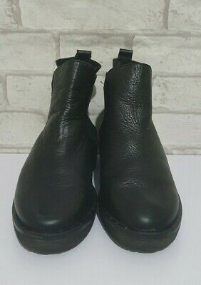 Carmel Made In Spain Black Leather Ankle Boots UK5 • 12£